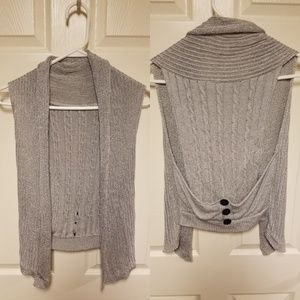 Sweaters - Fun Silver Sweater Vest